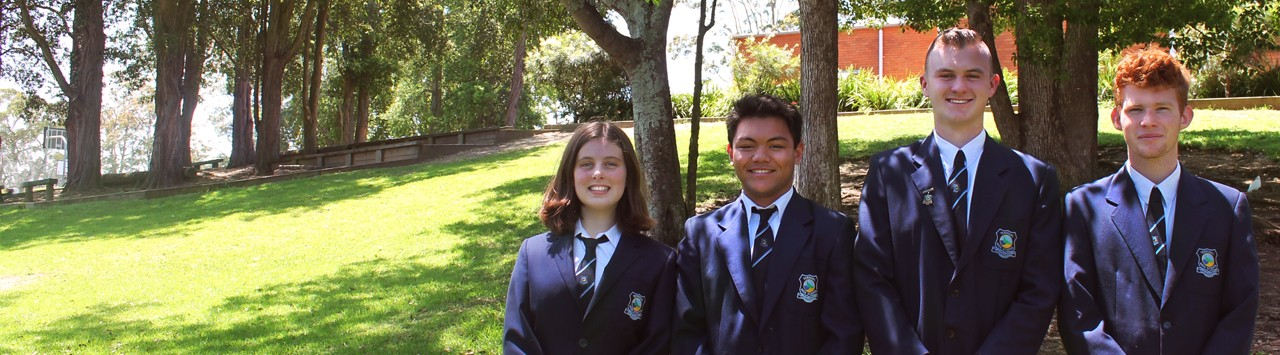2019 school leaders in their official Terrigal High School blazers.