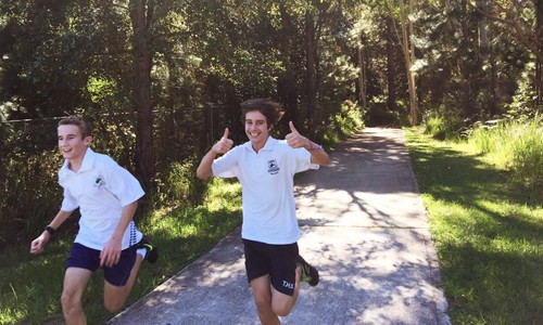 Two male cross country runners