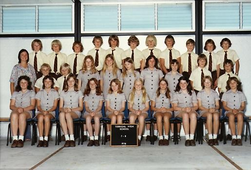Students class photo in 1978.